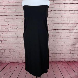 LAUREN Ralph Lauren Black Strapless Dress Sz M
